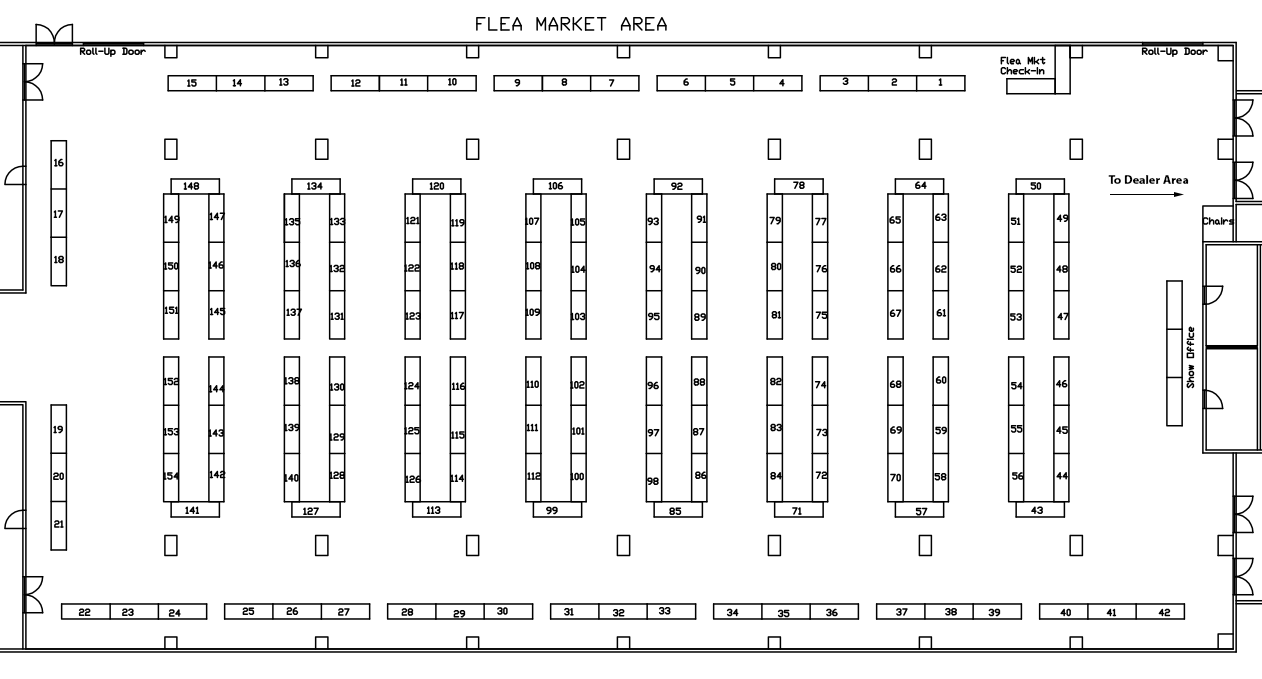 Indoor Fleamarket Layout